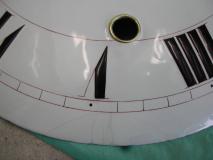 Cadran émaillé après restauration (détail)