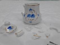 Miniature Dinette Porcelaine - Detail morceaux 3