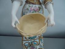 Personnage en biscuit de porcelaine après restauration