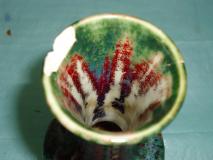 Vase Dalpayrat après dé-restauration
