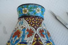 Vase en Emaux Bordeaux Vieillard