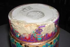 Vase rouleau en Emaux de Longwy